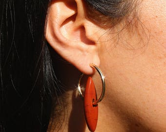 Marquise Earrings - Rust