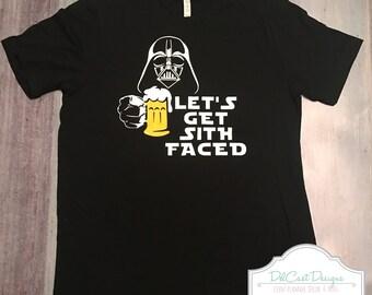 Disney Darth Vader Let's Get Sith Faced Beer Men's Shirt
