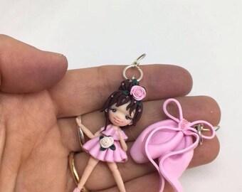 orecchini ballerina con scarpette / fimo / handmade / polymericlay