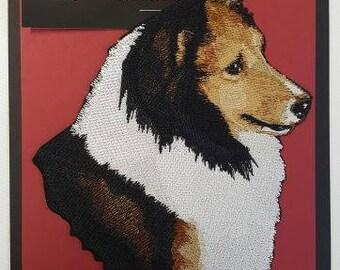 "Sable Sheltie, Shetland Sheepdog Large Patch 5.1"" x 7.1"""