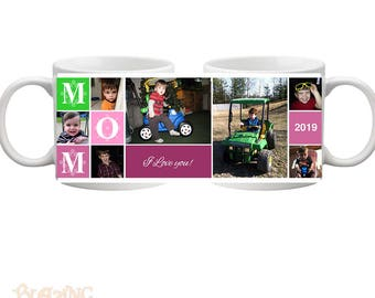 Personalized Mom/ Mommy Block Photo Coffee Mug