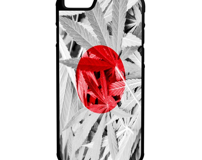 Japan Weed Flag Hybrid Rubber Protective Phone Case
