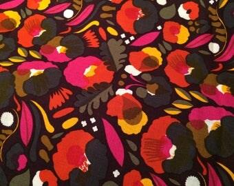 Marimekko Linen fabric, Hattarakukka, half yard , from Finland