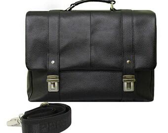 Business briefcase, Black briefcase, Soft black briefcase, men business bag, men briefcase, men office bag, leather briefcase, messenger bag