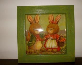 Bunny family kids deco frame
