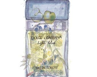 Dolce and Gabbana Light Blue Perfume Print