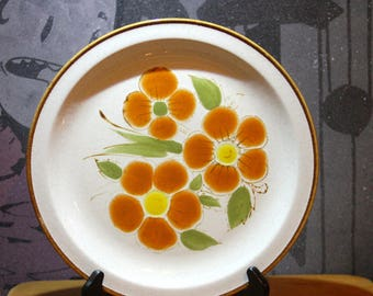 """Vintage 1970's""""FLOREAL- SY-8674"""" StonyBrook Ironstone Large Serving or Cake Plate"""