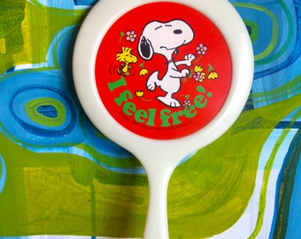 Vintage 1965 Peanuts : Beauty Boutique Snoopy Hand Mirror