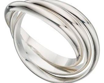 russian wedding ring hallmarked 925 silver sizes j up to s available - Russian Wedding Ring
