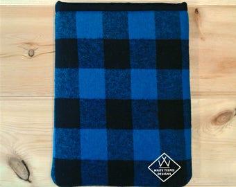 Book Snuggie - Blue Flannel