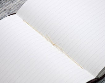 Lined Paper for Leather Personalized Journal Sketchbook Notebook