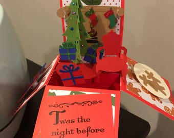 Night before Christmas Pop Up Box Card