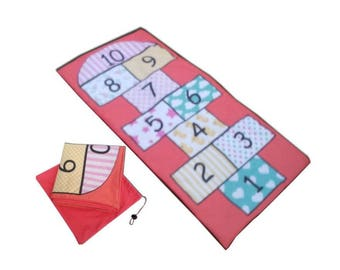 Hopscotch Play Mat, Busy mat,  Activity play or Play Mat hopscotch, Panel Mat, Play hopscotch, play mat, Activity play