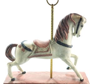 Vintage Carousel Horse, Austin Prod Inc 1981, Hand Painted, Clay Plaster, Beautiful Horse, Collectible