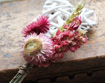 Flower Girl Wand - Spring Blossom - Dried Flowers