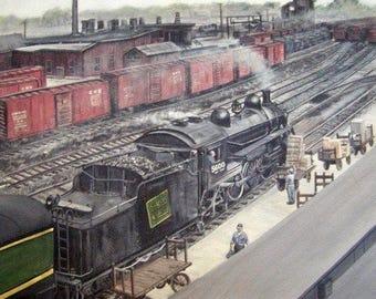 The Palmerston Rail Yard Giclé Canvas Print 8 x 9 3/4