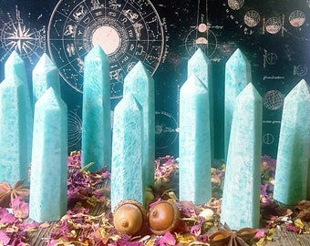 Amazonite Gemstone Generators | Natural Teal Amazonite | Highly Soothing | Remove Blockages and Filter Negative Energies | Spiritual Gifts