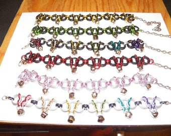 Chainmaille Dancer Anklet with Bells