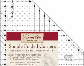 Simple Folded Corners - Quilt Ruler