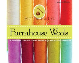 Farmhouse Wools Collection 10 Small Spools Wool by Farmhouse Woods  - Aurifil Wool Thread Set