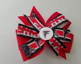 Atlanta Falcons hair bow