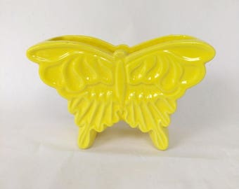 1950's Haeger Yellow Butterfly Ceramic Planter Flower Pot, Art Pottery  Planter, Butterfly Home Decoration Indoor Table Planter