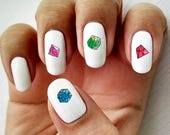 Natural 20 - Water Slide Nail Decals with Dice