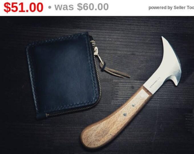 Horween Chromexcel Leather Mini Zip Wallet/Small leather wallet/Horween Leather Wallet/ Zip wallet/Leather Card holder/Men's Leather Wallet