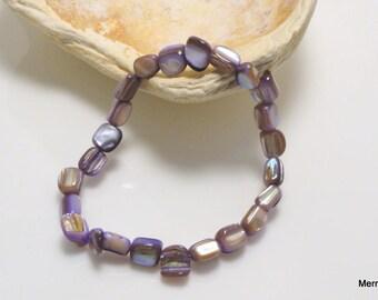 Purple Mother-of-Pearl Bracelet