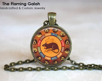 CHINESE ZODIAC - RAT Pendant • Year of the Rat • Rat Zodiac • Chinese New Year • Gift Under 20 • Made in Australia (P1354)