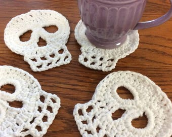 Skull Coaster Set / Mug Rugs
