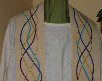 Strands of Wedding Colors  Clergy Stole