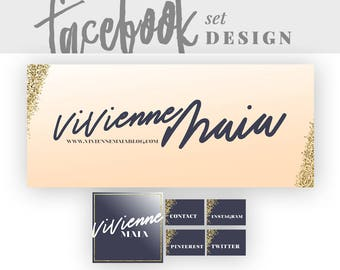 Premade Facebook Design   Glitter Facebook Cover   Facebook Page Cover   Facebook Branding Kit   Social Media Branding   Social Media Design