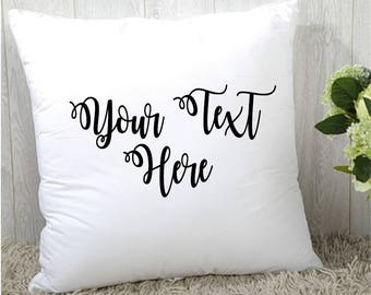 Custom Throw Pillow, Personalized Pillow, Decorative Pillow, 12 x 12 Accent Pillow, Pillow with Stuffing, Create Your Own Pillow