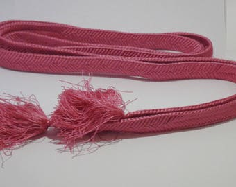 Silk Japanese flat obijime pink