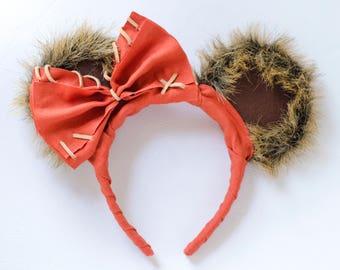 Star War's Ewok Wicket Inspired Mickey Mouse Headband