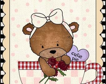 E-Pattern Primitive Valentine Cross Stitch Pattern 02