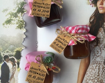 Mini Jam Jar Wedding Favors / Bombonniere
