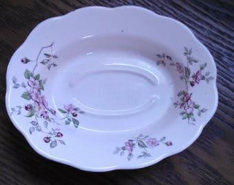 vintage empress ironstone petite dish soap dish staffordshire england