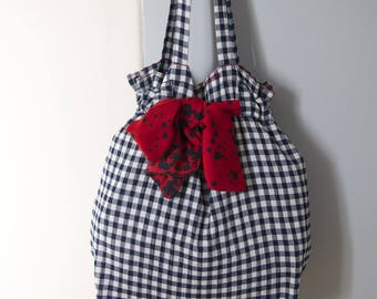 Gingham lingerie bag