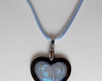 heart wooden necklace