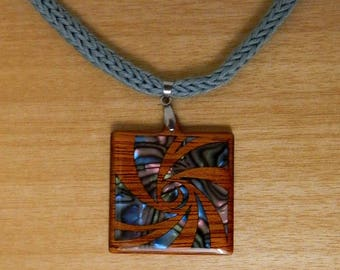 dragonfly wooden necklace