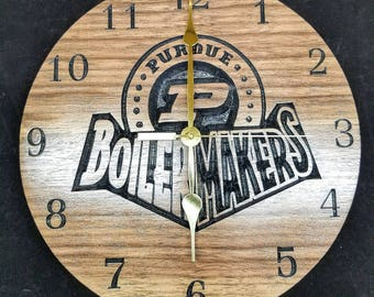 Purdue Boilermakers Clock
