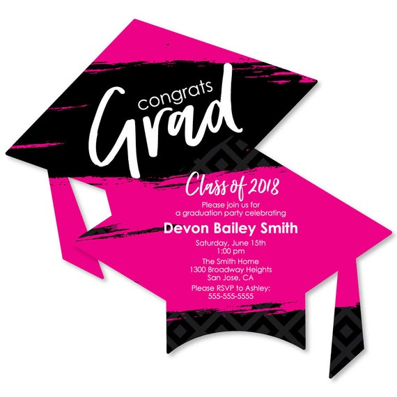 Pink grad best is yet to come graduation invitations il570xn filmwisefo