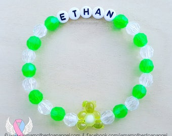 Teddy Bear - Personalized Handmade Bracelet - GREEN