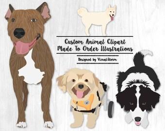 Custom Dog Clipart From Photo Digital Pet Illustration Customized Animal Vectors Personalized Illustrations Custom Designed Pet Graphics