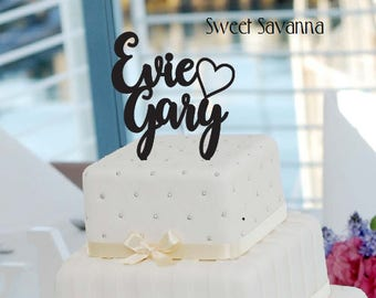 Custom Wedding Cake Topper - Name Cake Topper MADE IN AUSTRALIA