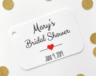 Bridal Shower Thank you Tags, Bridal Shower Favor Tags, Small Shower Favor Tags (RR-006)