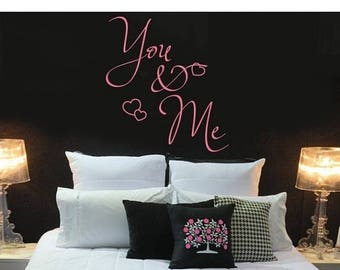 20% OFF Summer Sale You & Me love saying wall decal, sticker, mural, vinyl wall art