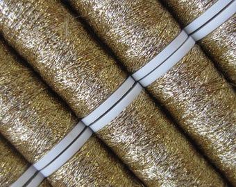 LUXETA: embroidery thread metallic light gold